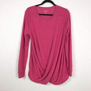 Isabel Maternity Pink Twist Long Sleeve Top